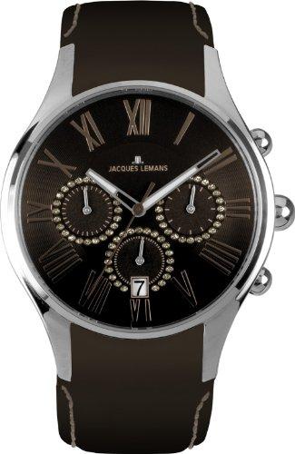 Jacques Lemans Women's 1-1606L Capri Analog Chronograph Watch