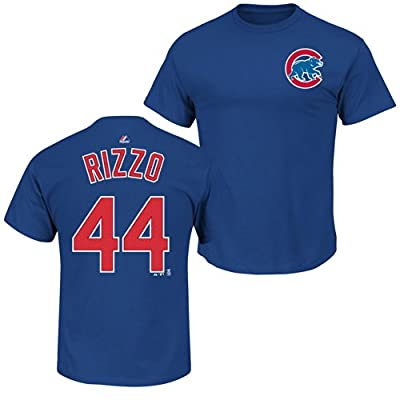 Chicago Cubs Anthony Rizzo Royal Blue Name and Number T-Shirt ...