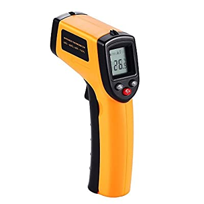 Digital Infrared Thermometer, Non-Contact Laser IR Temperature Gun Instant-read for Cooking Surfaces, Swimming Pools with 2 AAA Batteries(Included) Emissivity 0.95(fixed) Range -50 to 380¡æ(-58 to 716¨H)
