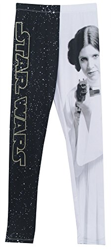 Star Wars Princess Leia and Logo Movie Mighty Fine Womens Leggings Yoga Pants
