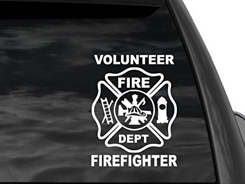 FGD Volunteer Firefighter Window Car Truck Suv Decal 8
