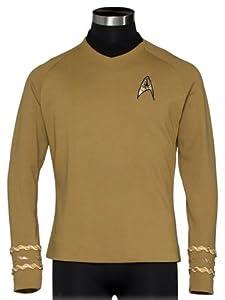 Star Trek The Original Series Captain Kirk Gold Tunic Adult