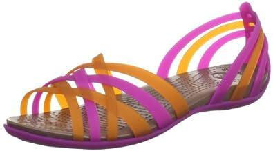 (降价)crocs 卡洛驰女士舒适凉鞋蓝黄颜色Women's 14121 Huarache Flat32.46