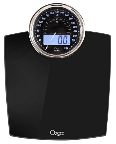 Ozeri ZB19 Rev Digital Bathroom Scale with Electro-Mechanical Weight Dial,