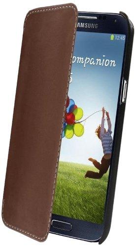 Muvit MUSLI0242 Braune Etui Made in Paris Schutzhülle mit DisplayFlappe für Samsung I9500 Galaxy S4 Picture