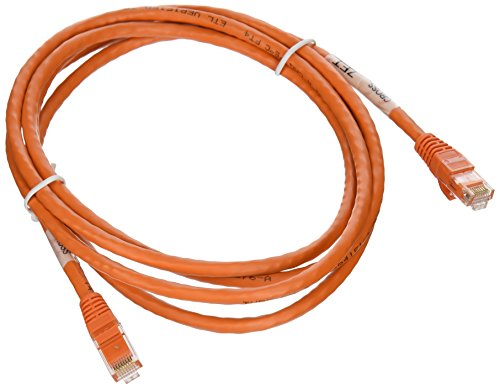 C2G / Cables To Go 27892 Cat6 Snagless Unshielded (UTP) Network Crossover Patch Cable, Orange (7 Feet/2.13 Meters)