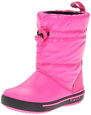 Crocs™ Girls' Crocband Iridescent Gust Boot (Toddler-Youth) - 4 Youth M - Magenta