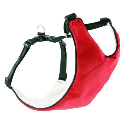 Canine Friendly Vest Harness, Medium, Red front-41927