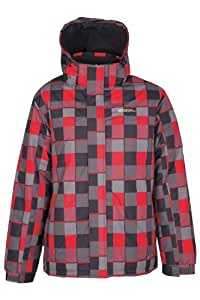 Mountain Warehouse Dusk Men Snowproof Insulated Hooded Ski Jacket Red XXX-Large
