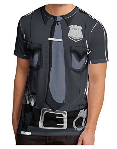 TooLoud Police Costume AOP Men's Sub Tee Dual Sided All Over Print