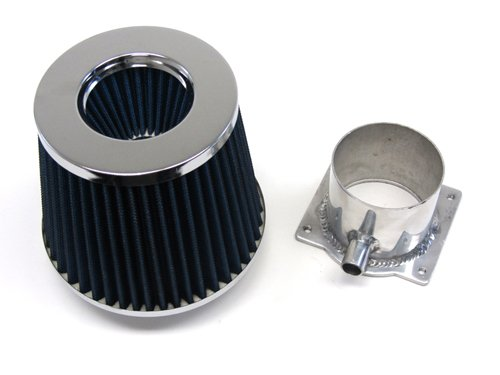 89-94 Nissan 240Sx S13 2.4L Ka24De Blue Filter + Mass Air Flow Sensor Adapter front-615071