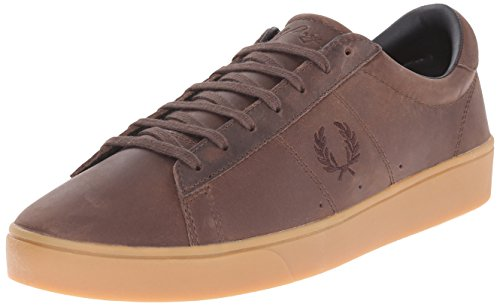 Fred Perry Spencer Mens Leather Trainers Dark Chocolate - 43 EU