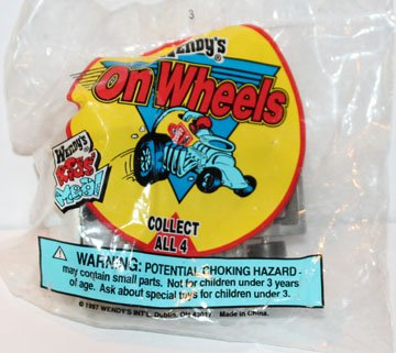 Wendy's Kids Meal On Wheels Soft Drink Dragster Vintage 1997 - 1