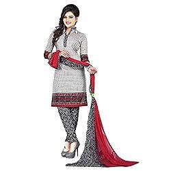 Aagaman Fashion Art Silk Unstitched Salwar Suit (AFSDHSK2005_Grey)