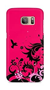 Amez designer printed 3d premium high quality back case cover for Samsung Galaxy S7 Edge (Abstract Colorful 14)