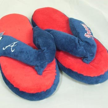Atlanta Braves MLB Flip Flop Thong Slippers - XL at Amazon.com