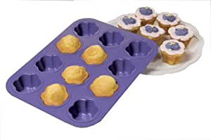 Chicago Metallic 12-Cup Nonstick Pretty Pansy Cupcake Pan