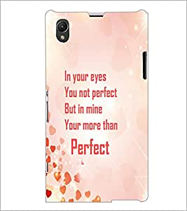 PrintDhaba Quote D-4245 Back Case Cover for SONY XPERIA Z1 (Multi-Coloured)