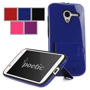 Poetic Invictus Hybrid Case for Motorola X Phone Moto X Phone Royal Blue/Black W/Stand