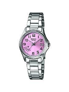 Casio - LTP-1369D-4BVEF - Standard - Montre Femme - Quartz Analogique - Cadran Rose - Bracelet Acier Argent