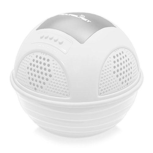 Pyle Pwr90Dwt Aqua Blast Waterproof Bluetooth Floating Pool Speaker System With Built-In Rechargeable Battery And Wireless Music Streaming