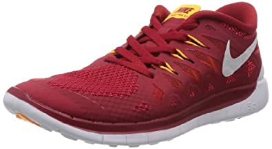 Nike Free 5.0 (GS) Boys Running Shoes 644428-600 Gym Red 5 M US