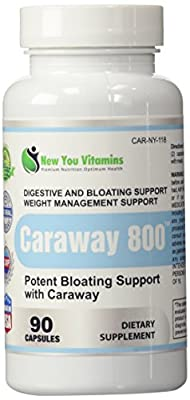 Caraway800 Caraway Seed Extract Bloating And Diet Support 800mg 90 Capsules