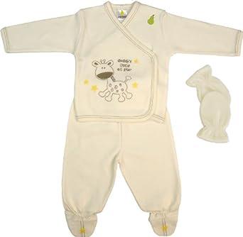 Pearhead Unisex - Baby Crew Neck Long - regular Pyjama  - Beige - Beige (nature ) - 18 (Brand size: 44)