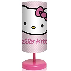 hello kitty cylindrical dot polka bedside lamp. Black Bedroom Furniture Sets. Home Design Ideas