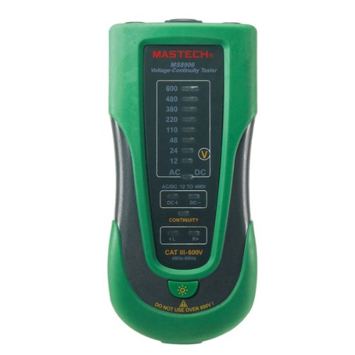 MASTECH MS8906 Electronic Voltage Continuity Tester 12-600V LED Indicator Three-phase AC Tester