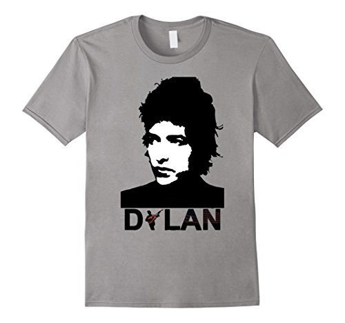 Men's BO-B DY-LAN Guitar Cool Musician T-Shirt XL Slate