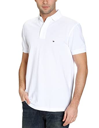 Tommy Hilfiger - Core New Knit - Polo - Uni - Homme - Blanc (Classic White) - FR : Small (Taille Fabricant : S)
