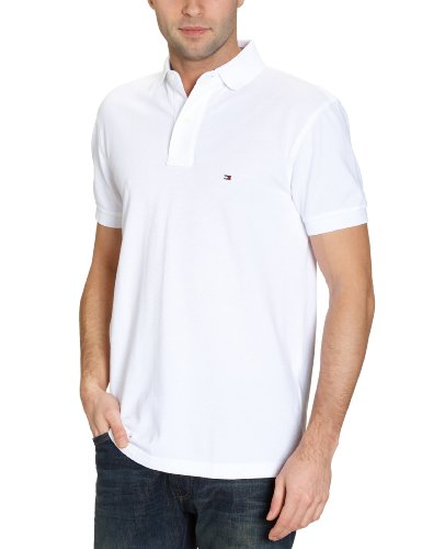 Tommy Hilfiger - Core / New Tommy Knit S/Sl, Polo da uomo, bianco (classic white), SM