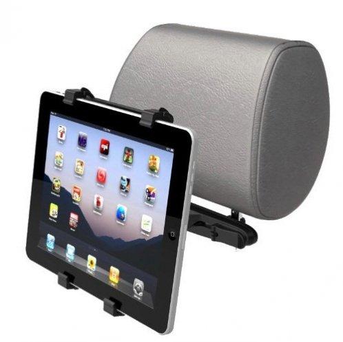 Fonus Headrest Back Car Mount Vehicle Rear Seat Dock 360 Degree Rotating Cradle For Google Nexus 7, Ipad 1 2 3 4, Ipad Air, Ipad Mini / Mini 2, Amazon Kindle / Dx / Kindle Fire / Hd / Hdx, Barnes Noble Nook Tablet front-170723