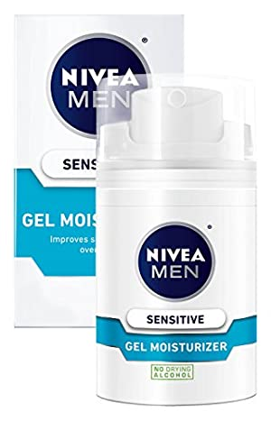 NIVEA MEN Sensitive Non-Greasy Face Gel Moisturizer, 1.7 oz Bottle