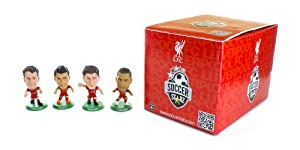 Soccerstarz Liverpool FC Blister Includes Steven Gerrard/ Luis Suárez/ Jamie Carragher and Glen Johnson (Pack of 4) from SoccerStarz