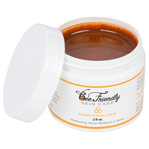 Honey Facial Mask - 100% All Natural Raw Honey, French Pink Clay Revitalising Face Mask by BeeFriendly, Leaves Skin Soft, Smooth, Youthful, Renewed, Deep Cleansed, Pulls Impurities, Stimulates Cell Regeneration, Enhances Collagen Production, Clears Acne