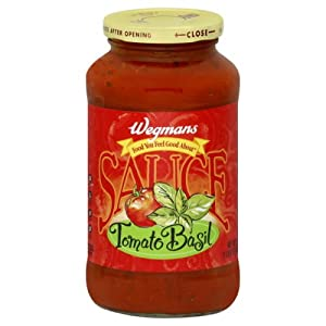 Wgmns Food You Feel Good About Pasta Sauce, Tomato Basil, 24 Oz. Gluten Free. Lactose Free. Vegan. Low Fat, (Pack of 4)