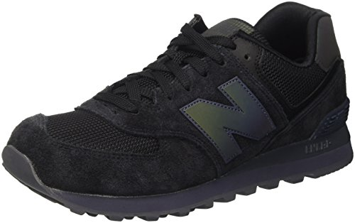 New Balance 574, Scarpe da Ginnastica Basse Uomo, Nero (Black), 42 EU