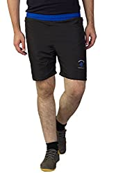 Greenwich United Polo Club Men's Polyester Shorts (GUPC8_Black_X-Large)