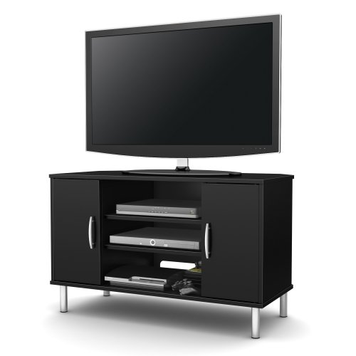 South Shore Renta Corner Tv Stand, Pure Black