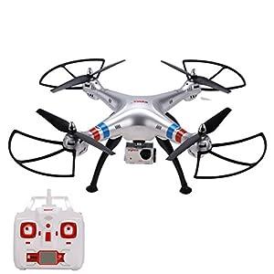 Arshiner SYMA X8G RC Drone Quadcopter RTF 4CH 6 Achsen-Gyro 2.4GHz Headless Modus mit FPV 8MP 1080P HD-Kamera