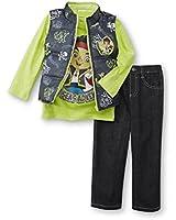 Disney Jake & The Neverland Pirates Toddler Boys 3 Piece Outfit - Vest, Shirt, Pants