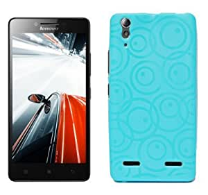 Lenovo A6000 Exclusive Textured Soft Back Case Cover Back Cover by ECellStreet - Aqua Blue