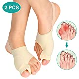 Bunion Corrector Sleeves Relief Bunion Pain for Men and Women, Bunion Pad with Toe Separators for Hallux Valgus Hammer Toe Big Toe Joint, Unti-slip Design, 2 Pcs (Color: M)