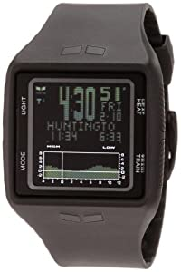 Vestal Men's BRG001 Brig Tide and Train All Black Digital Polyurethane Surf Watch from Vestal