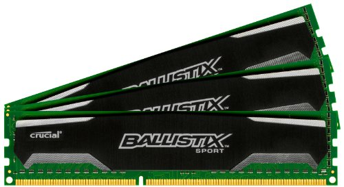Crucial Ballistix Sport 8GB 16GB PC3-12800 DDR3-1600Mhz 1.5v NON ECC DIMM Memory