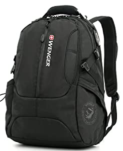 Wenger Backpack by SwissGear with Padded Sleeve for Laptops (SA1537 Black)