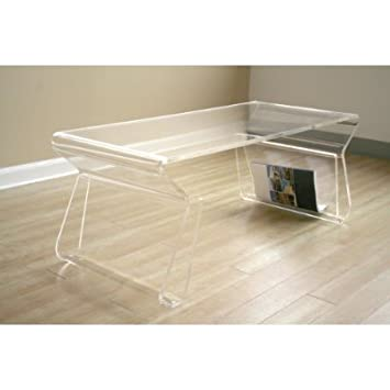 Baxton Studios Lucy Coffee Table in Clear by Wholesale Interiors