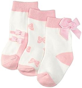 kate spade york 3 pack Sock Set (Baby)